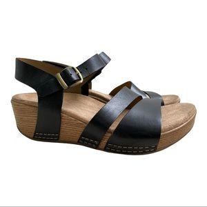 Dansko New Women's Sandal Lindsay Leather Black size 38
